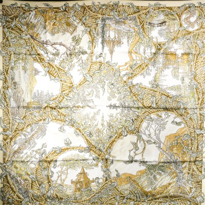 Fantaisie Pittoresque HERMES Silk Scarf_
