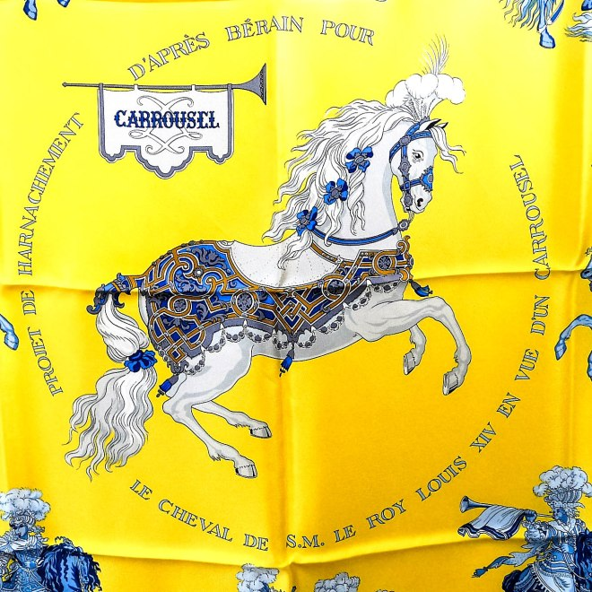 Carrousel HERMES Silk Scarf