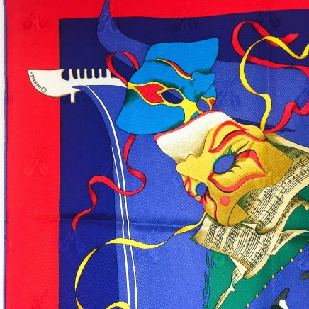 Le Carnaval de Venise HERMES Silk Scarf NIB