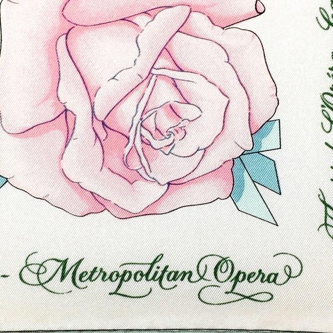 Opera Flowers Special Metropolitan Opera Edition VTG HERMES Silk Scarf Unworn RARE-5 (1)