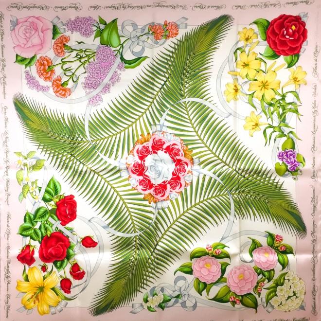 Opera Flowers Special Metropolitan Opera Edition VTG HERMES Silk Scarf Unworn RARE