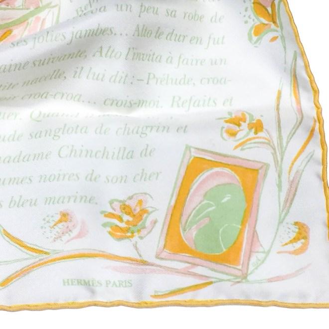 La Perruche HERMES Silk Pocketsquare-4