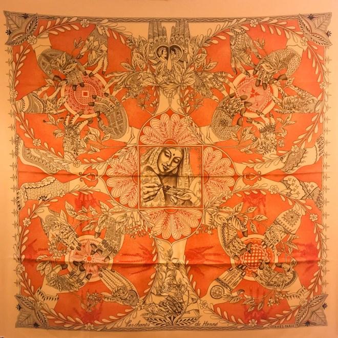 Le Chants du Henne HERMES Silk Scarf-3.jpg
