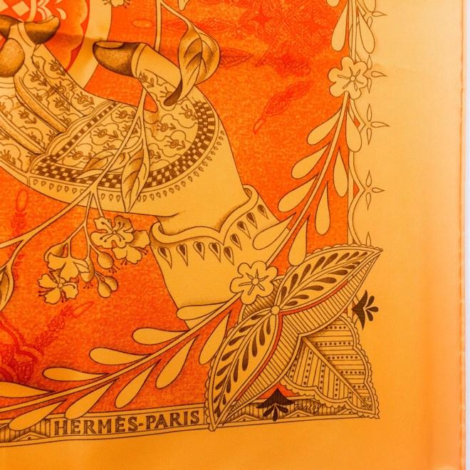 Le Chants du Henne HERMES Silk Scarf-7
