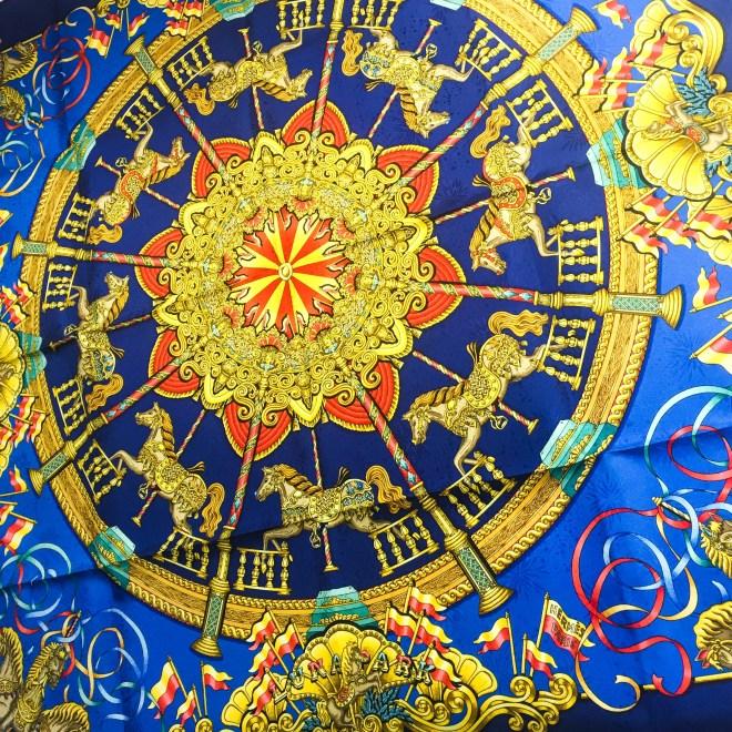 Luna Park HERMES Silk Jacquard Scarf UNWORN-6