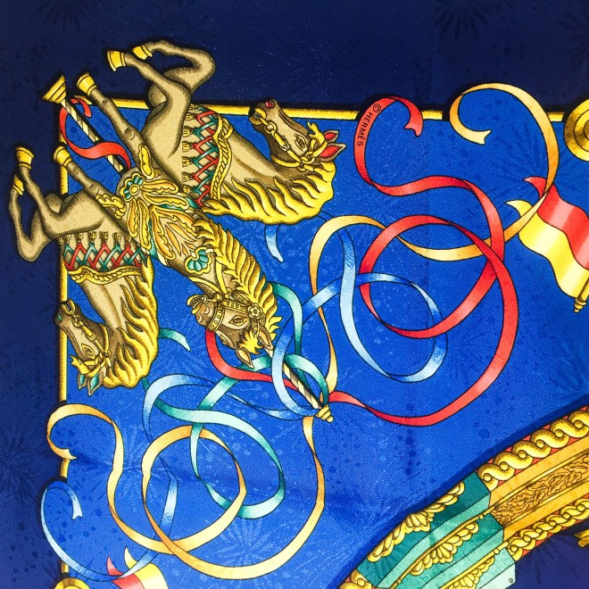 Luna Park HERMES Silk Jacquard Scarf UNWORN-7