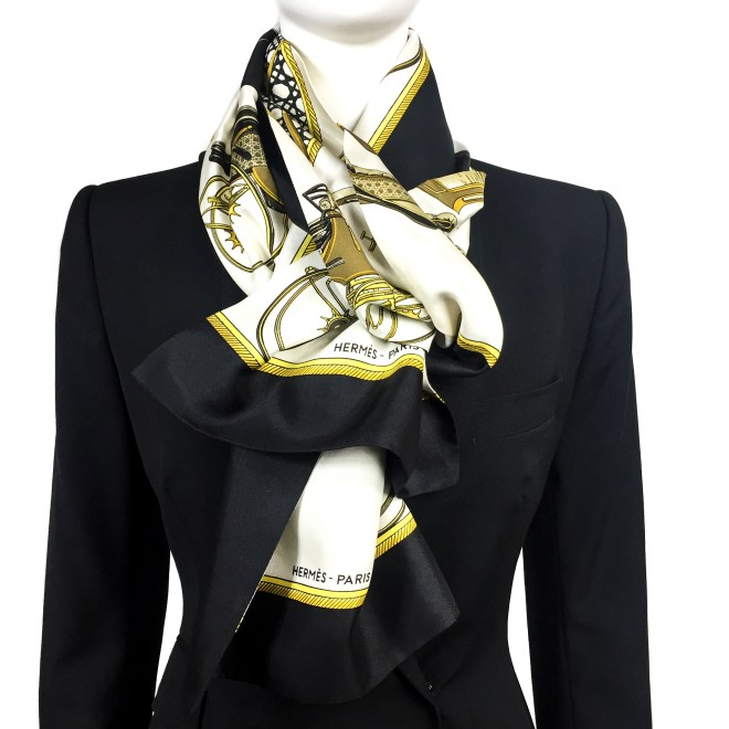 Les Voitures a Transformation HERMES Silk Opera Scarf RARE-6