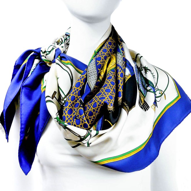 Les Voitures a Transformation HERMES Silk Scarf-2