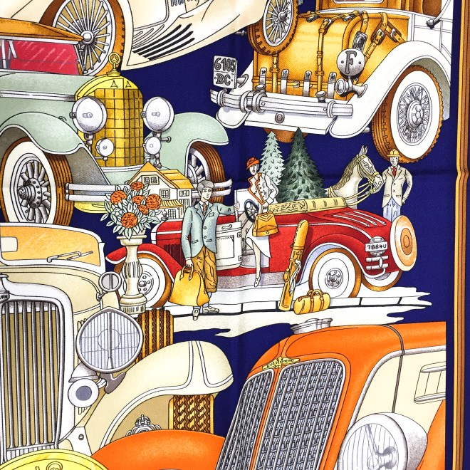 Hermes Silk Scarf Automobile_-10