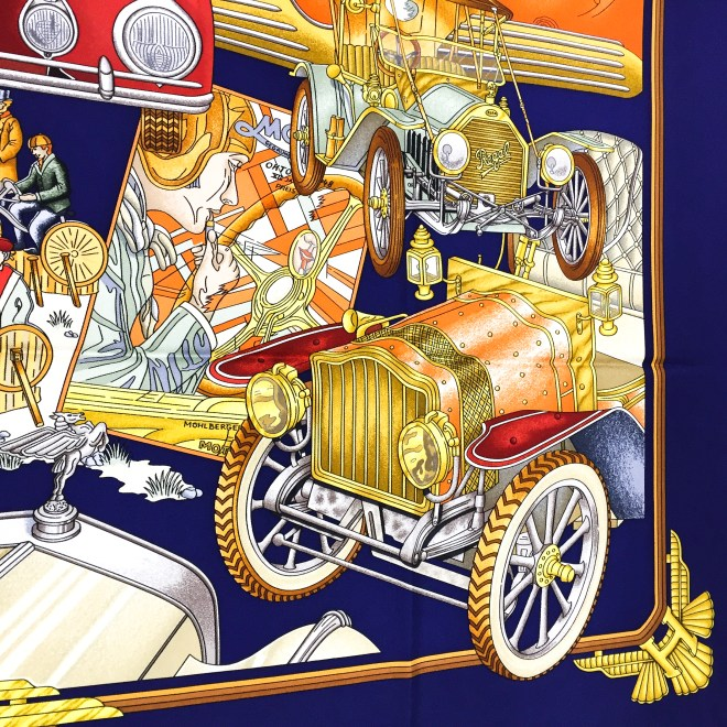 Hermes Silk Scarf Automobile_-9