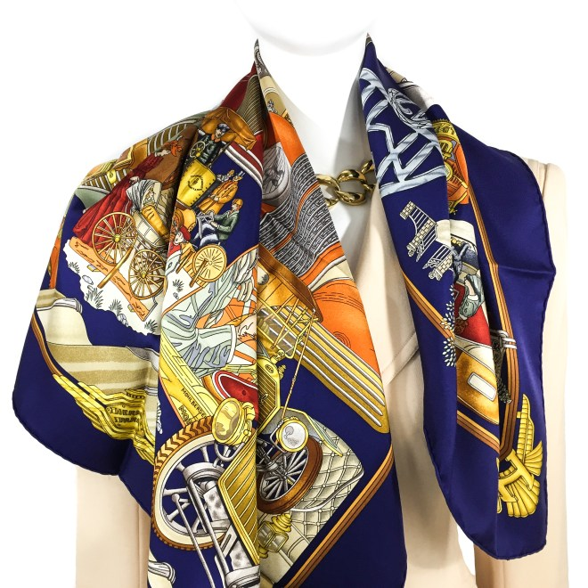 Hermes Silk Scarf Automobile_