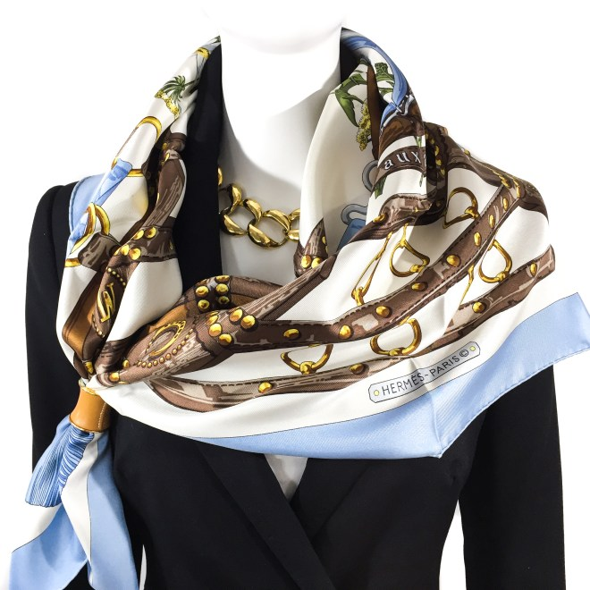 Hermes Silk Scarf Aux Champs-5