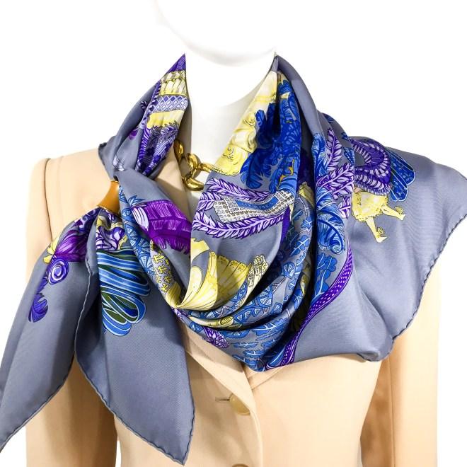 Hermes Silk Scarf Chapeaux Annie Faivre-2