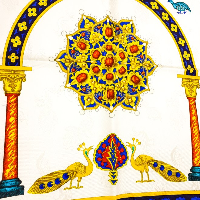 Ciels Byzantins Hermes Silk Jacquard Scarf_-12