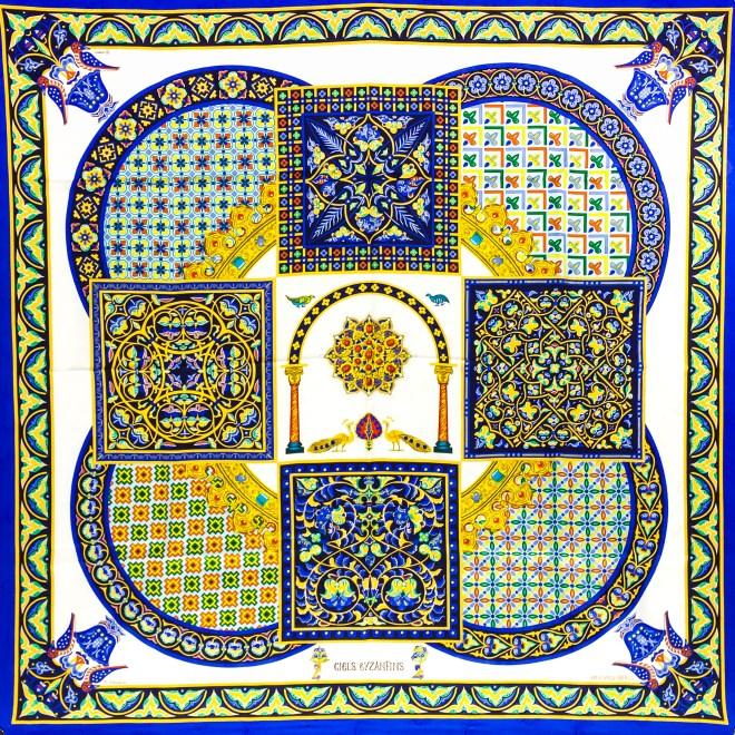 Ciels Byzantins Hermes Silk Jacquard Scarf_