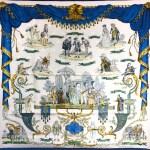 Hermes Jacquard Silk Scarf La Comedie Italienne Rare Collector's Scarf
