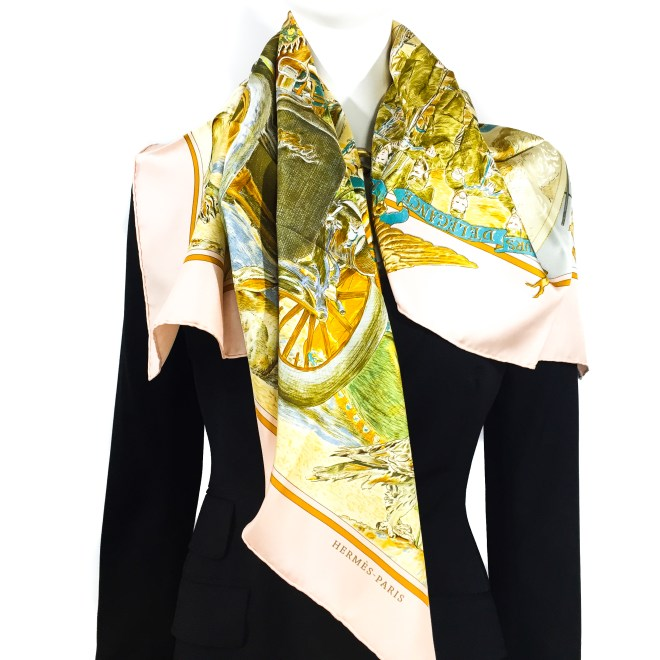 Hermes Silk Scarf Concours d'Elegance GRAIL-2
