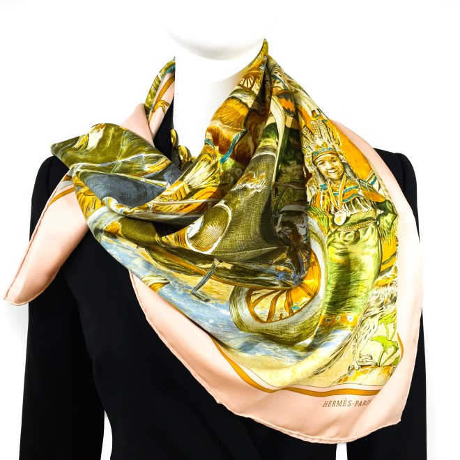 Hermes Silk Scarf Concours d'Elegance GRAIL-6