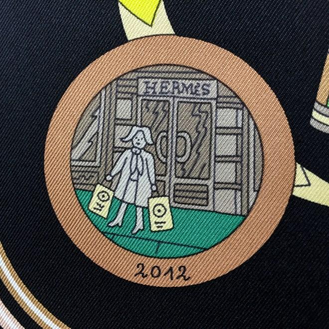 Hermes Silk Scarf Le Laboratoire du Temps NIB-12