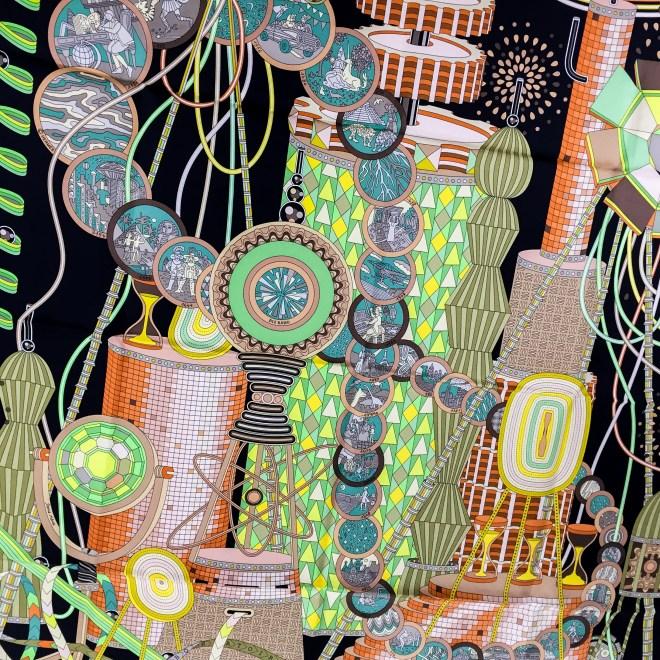 Hermes Silk Scarf Le Laboratoire du Temps NIB-6