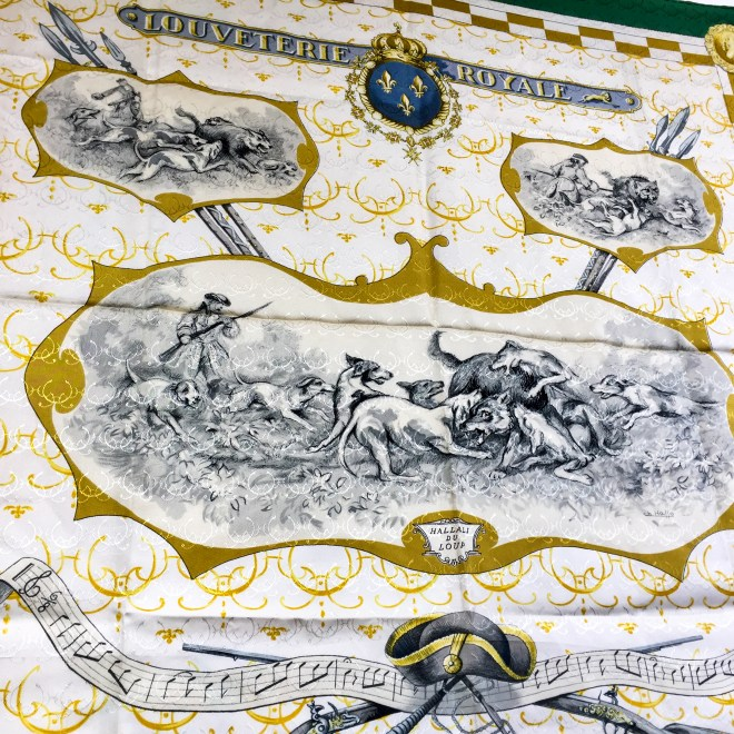 Hermes Silk Scarf Louveteries Royale Vintage Rare-5.jpg