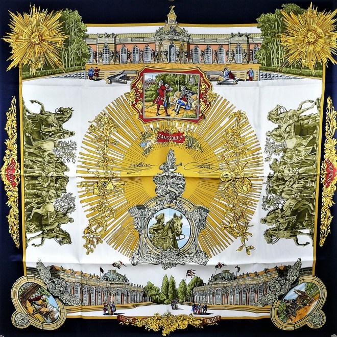 Voltaire or Sanssouci HERMES Silk Scarf NIB