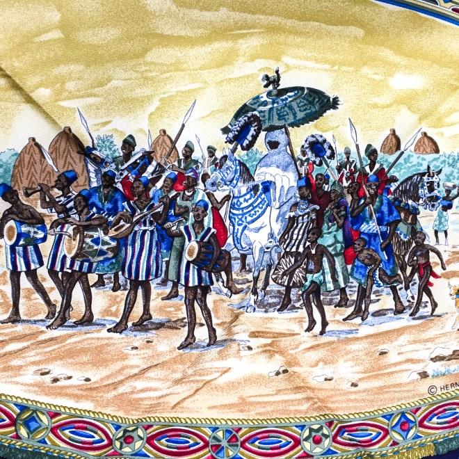 Hermes Silk Scarf Cavaliers Peuls NIB-13
