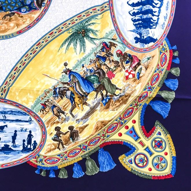 Hermes Silk Scarf Cavaliers Peuls NIB-6