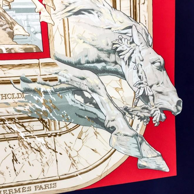 Hermes Silk Scarf La Fontaine de Bartholdi-6