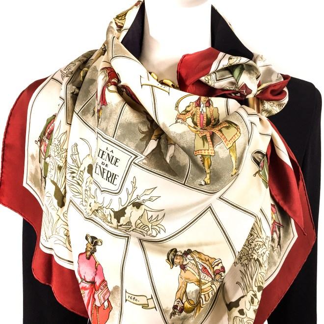 Hermes Silk Scarf La Tenue de Venerie RARE-13