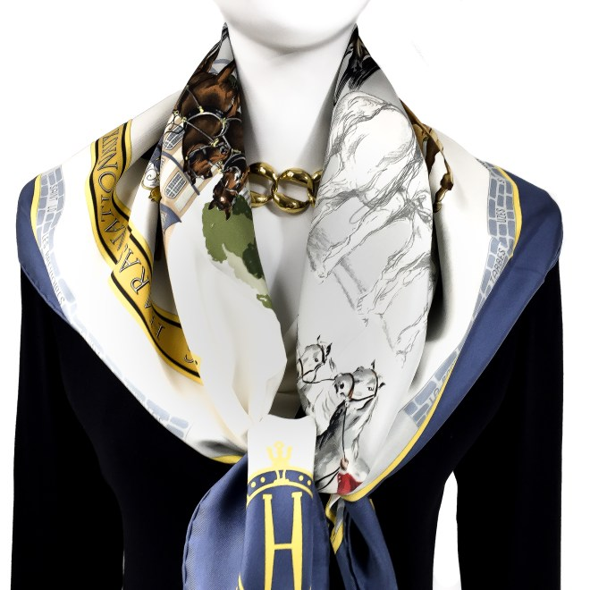 Les Haras Nationaux Hermes Silk Scarf_ (12)