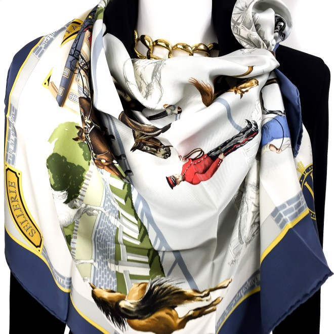 Les Haras Nationaux Hermes Silk Scarf_ (14)