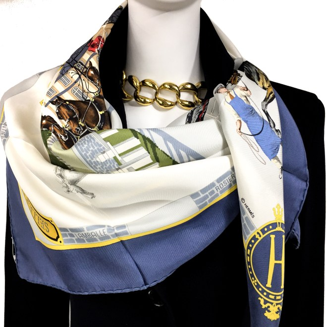 Les Haras Nationaux Hermes Silk Scarf_ (15)