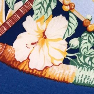 Hermes Silk Scarf Aloha Blue-6