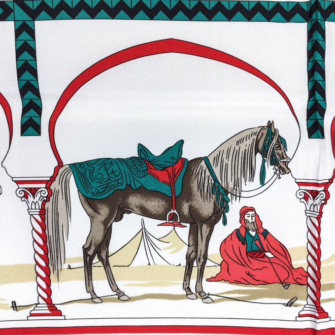 Hermes Silk Scarf Chevaux Arabes Special Issue-10