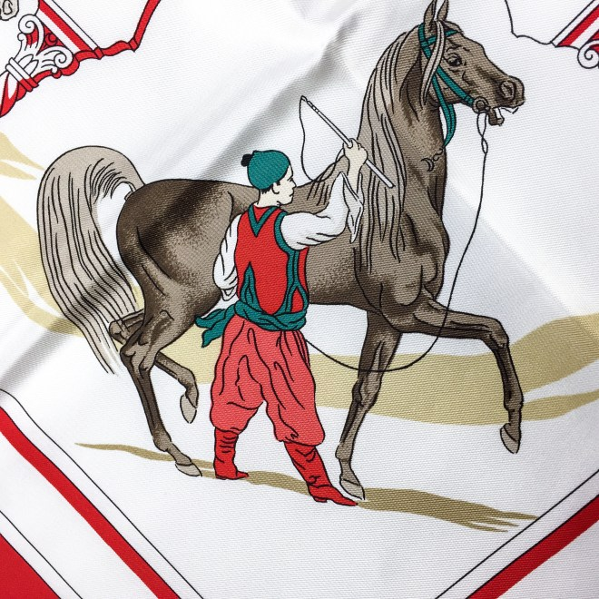 Hermes Silk Scarf Chevaux Arabes Special Issue-9