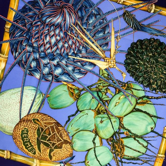 Hermes Silk Scarf Jardin Creole_-2