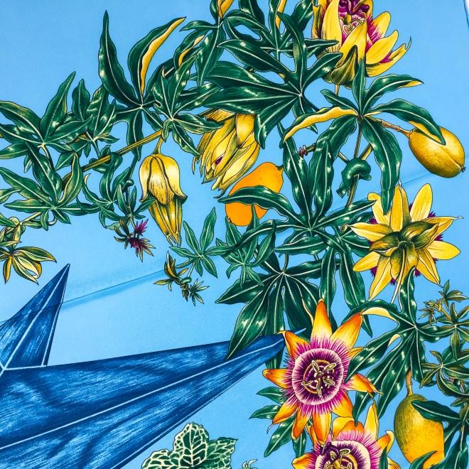 Hermes Silk Scarf Passiflores Turquoise UNWORN-7