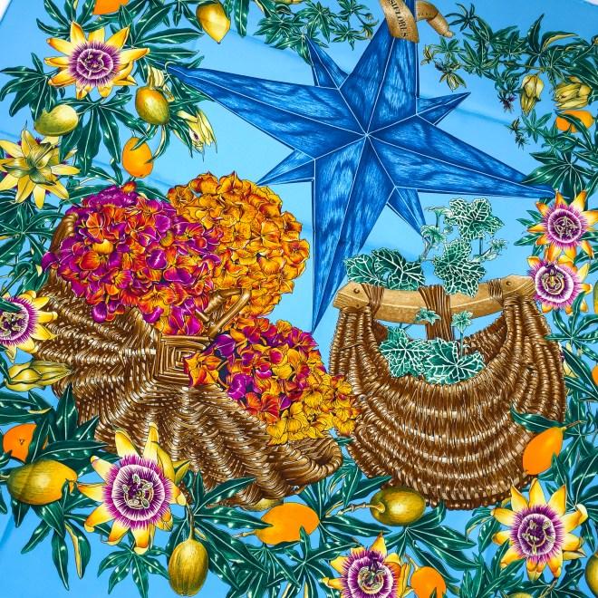 Hermes Silk Scarf Passiflores Turquoise UNWORN-9