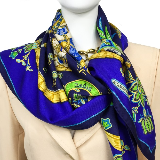 Hermes Silk Scarf India-12