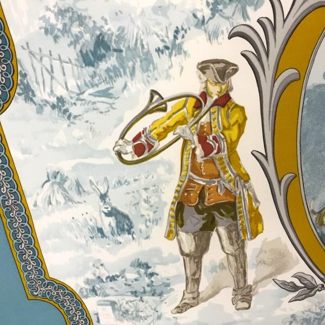Hermes Silk Scarf Petit Venerie RARE-3