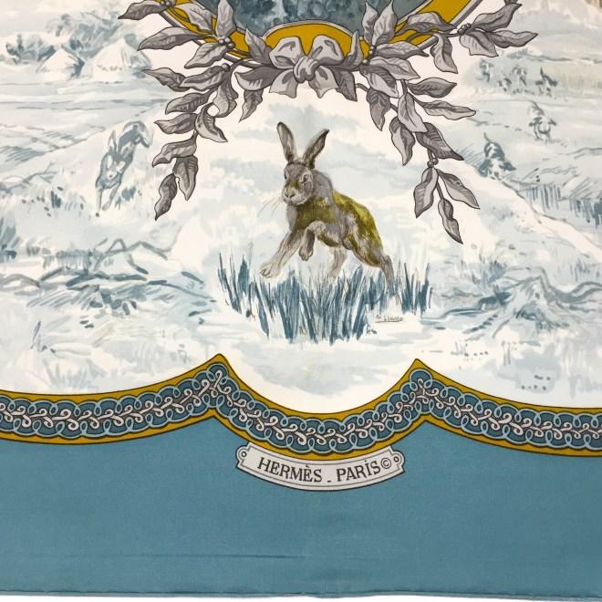 Hermes Silk Scarf Petit Venerie RARE-6