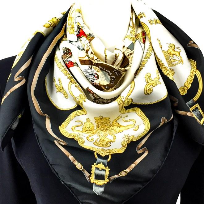 Hermes Silk Scarf The Royal News - Buckingham Palace RARE-13.jpg