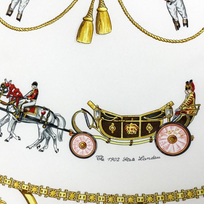 Hermes Silk Scarf The Royal News - Buckingham Palace RARE-7