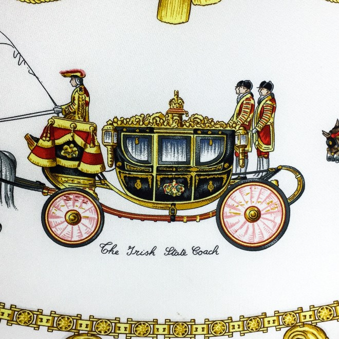 Hermes Silk Scarf The Royal News - Buckingham Palace RARE-8