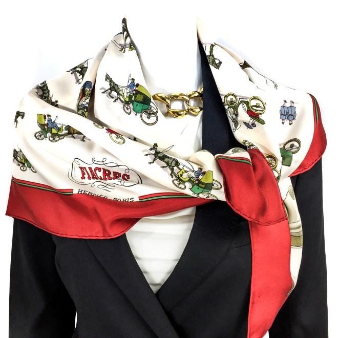 Fiacres Vintage Hermes Silk Scarf Very Rare.jpg