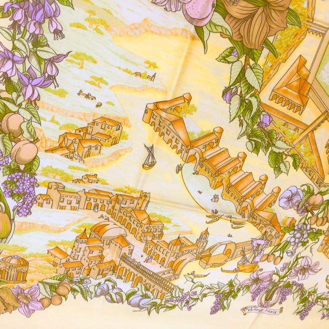 Hermes Au Pays de Cocagne Silk Scarf UNWORN-2
