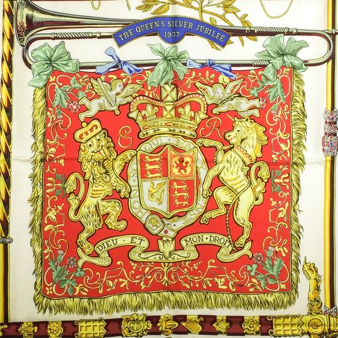 Hermes Silk Scarf Queens Jubilee-2