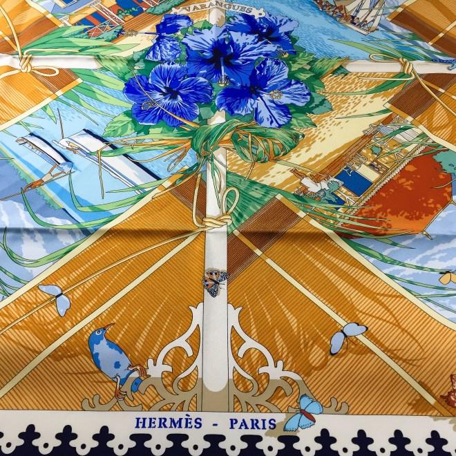 Varangues HERMES Silk Scarf_-5