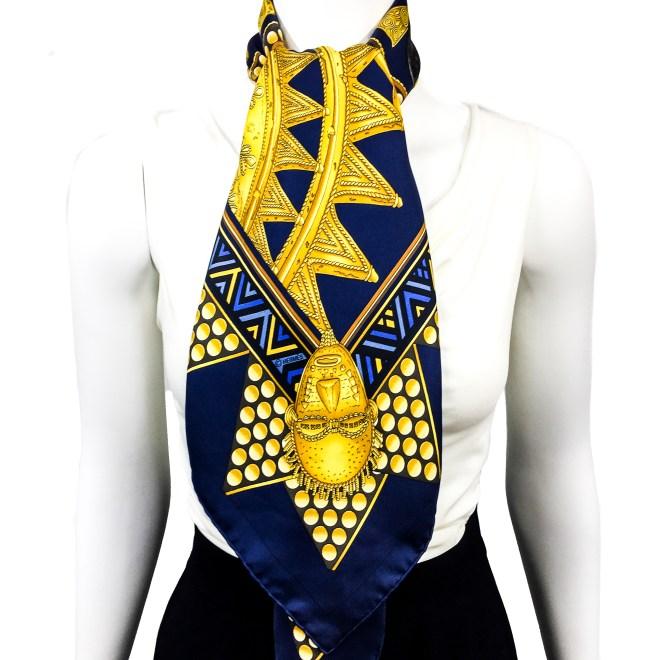 Hermes Silk Scarf L'Or des Chefs-14